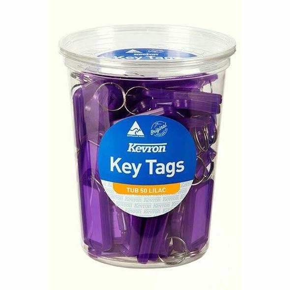 Kevron ID5 Keytags Lilac Disposable Tub 50 47050