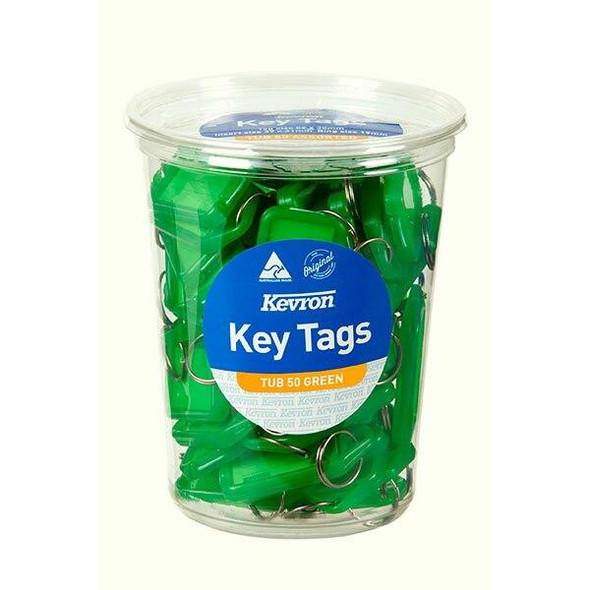 Kevron ID5 Keytags Green Disposable Tub 50 47051