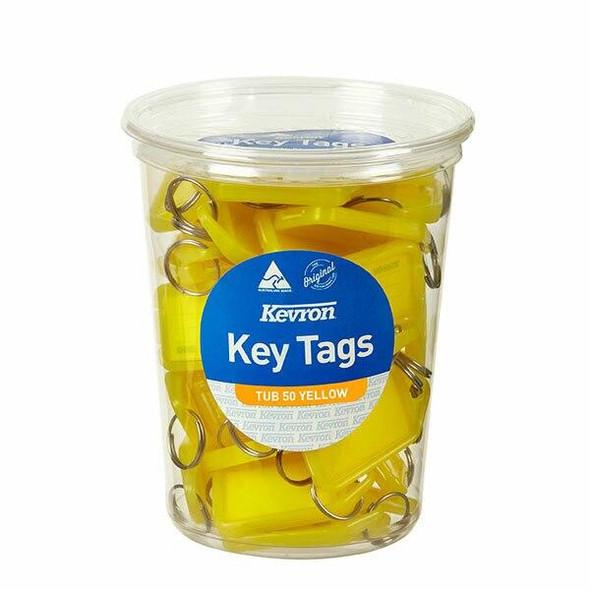Kevron ID5 Keytags Yellow Disposable Tub 50 47052