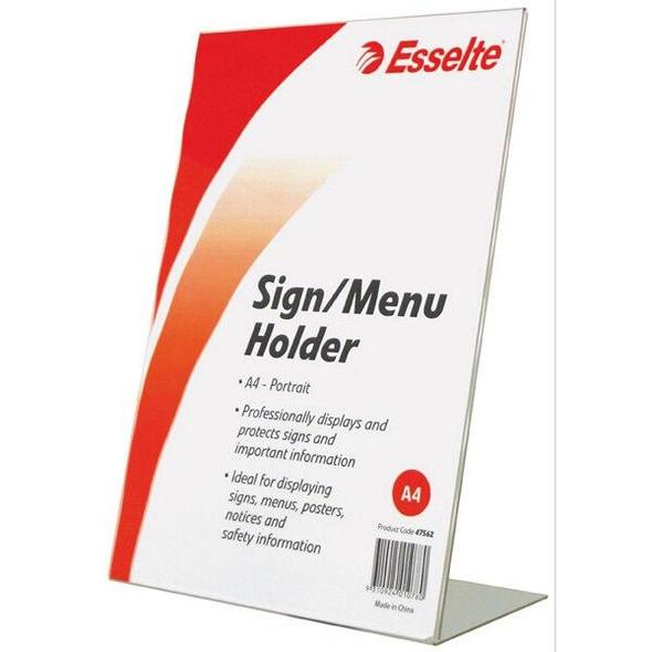 Esselte Sign/Menu Holder Slanted Port A4 47562