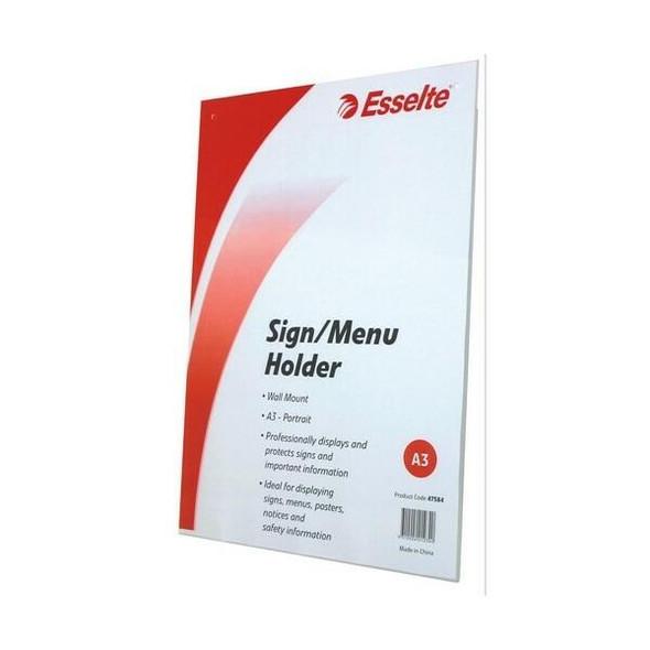 Esselte Sign/Menu Holder Wallet Port A3 47584