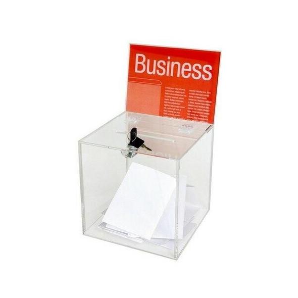 Esselte Ballot Box Small Clear 47587