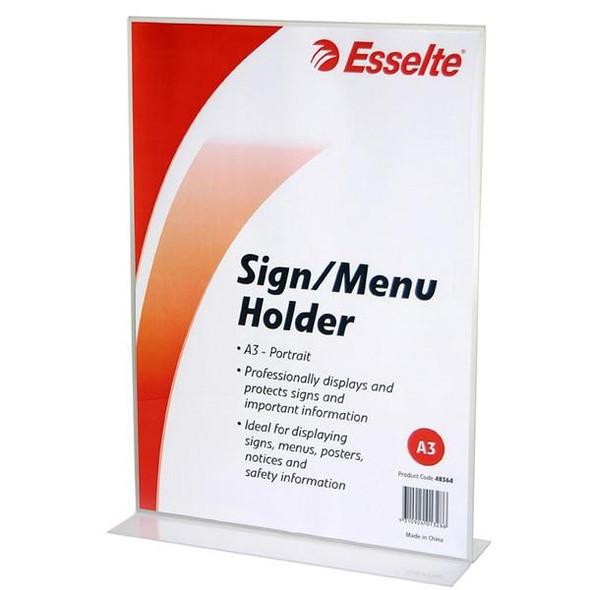 Esselte Sign/Menu Holder 2 Sided Port A3 48364