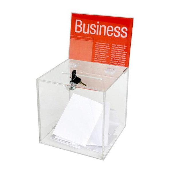 Esselte Ballot Box Large Clear 48369