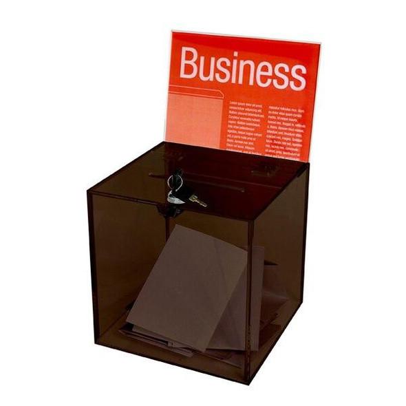Esselte Ballot Box Large Smoke 48370