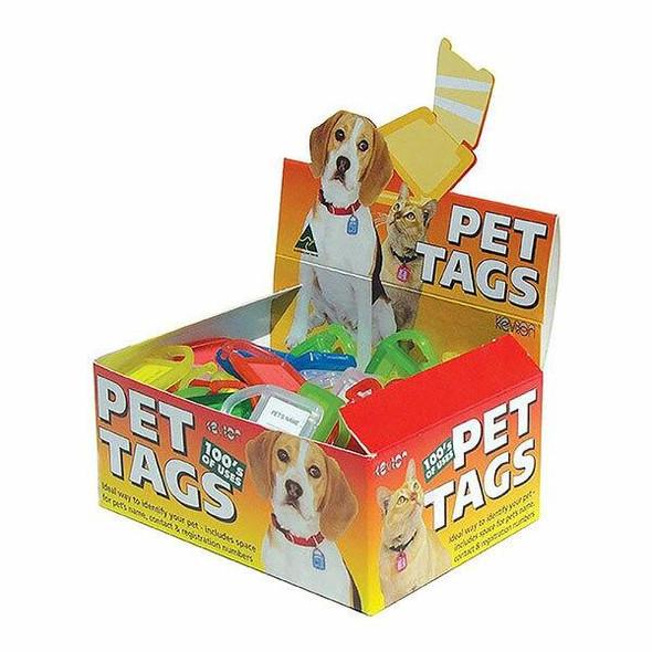 KEVRON ID33 PET TAGS Assorted DISP Box100 48652