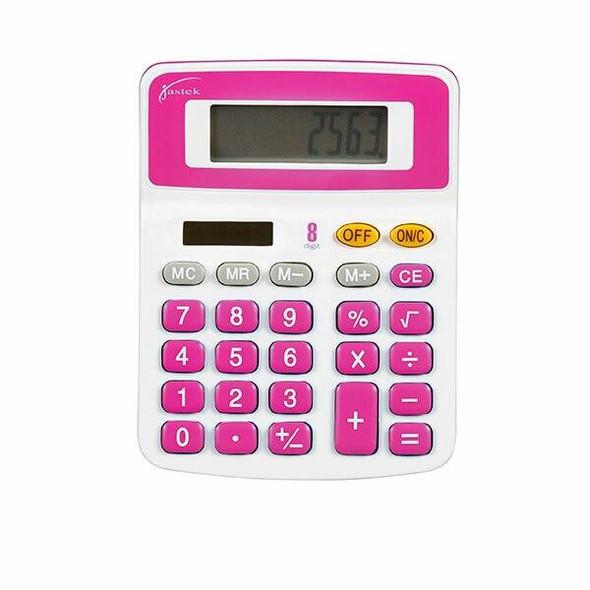 Jastek Desktop Calculator Assorted Colours X CARTON of 6 49337