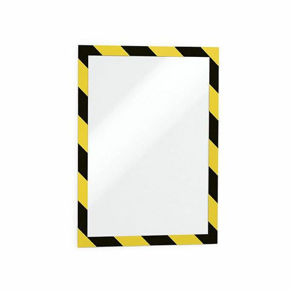 DURABLE Duraframe Security Self-Adhesive A4 Yellow/Black 4944130