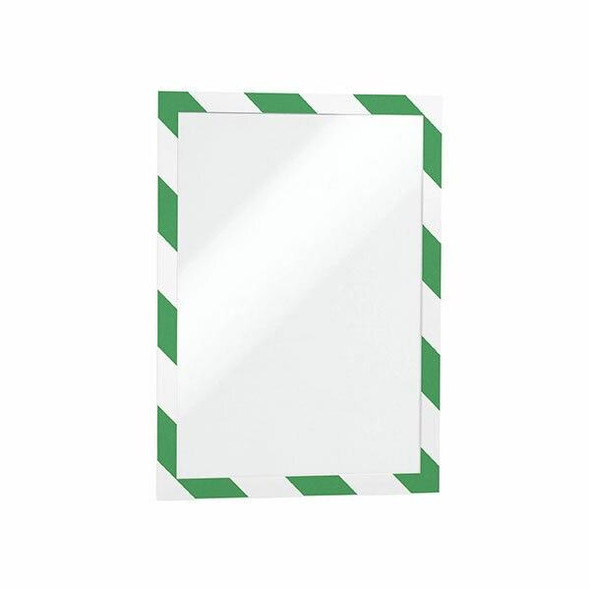 DURABLE Duraframe Security Self-Adhesive A4 Green/White 4944131