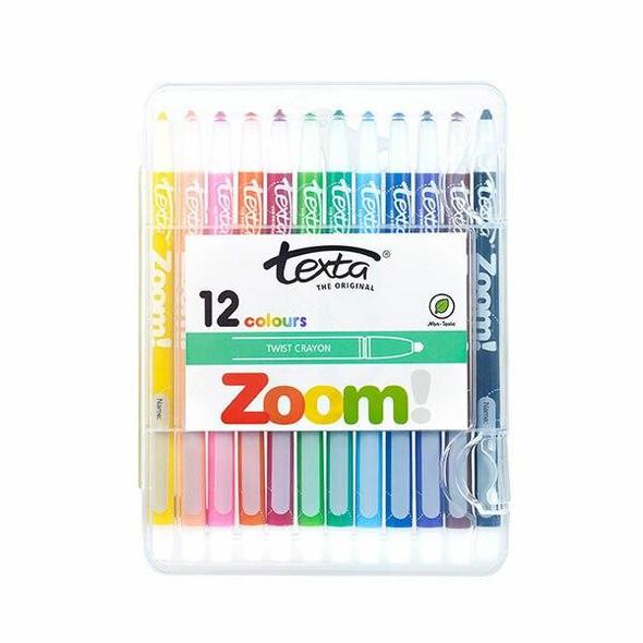 TEXTA Zoom Crayon Assorted Wallet12 X CARTON of 10 49450