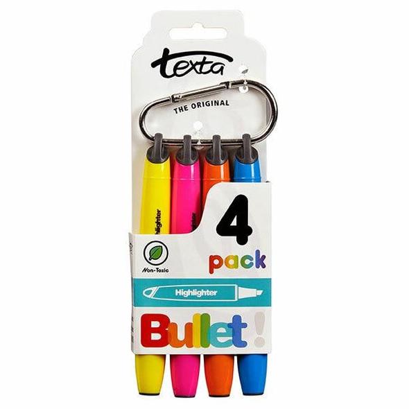 TEXTA Bullet Highlighter Pack4 X CARTON of 12 49550