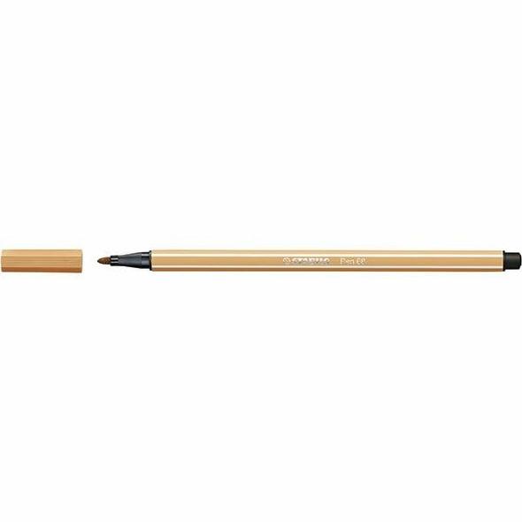 STABILO Pen 68 Fibre Tip Light Ochre BOX10 49560