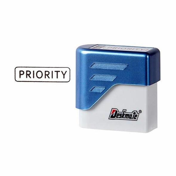 Deskmate Pre-Inked Office Stamp Priority Black X CARTON of 6 49588