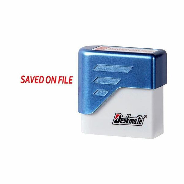 Deskmate Pre-Inked Office Stamp Saved On File Red X CARTON of 6 49589