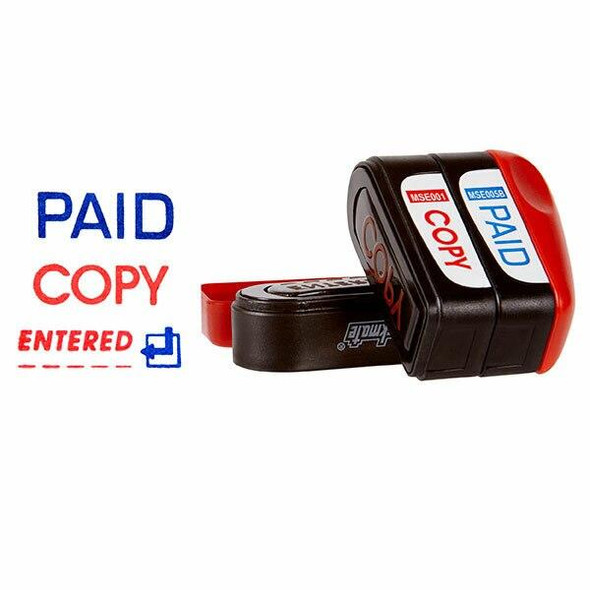 Deskmate Pre-Inked Office Stamp Paid Copy Entered X CARTON of 6 49593