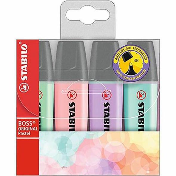 STABILO Boss Pastel Highlighter Wallet4 49692