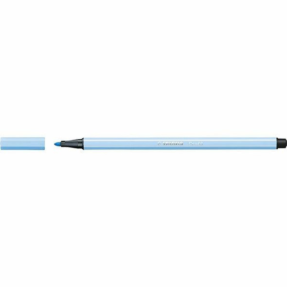 STABILO Pen 68 Fibre Tip Ice Blue BOX10 49697