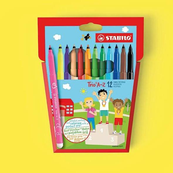 STABILO Trio Coloured Pencils Wallet12 X CARTON of 6 49727