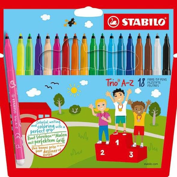 STABILO Trio Coloured Pencils Wallet18 X CARTON of 6 49728
