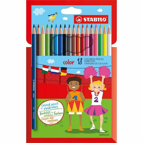 STABILO Colour Coloured Pencils Wallet18 X CARTON of 6 49733