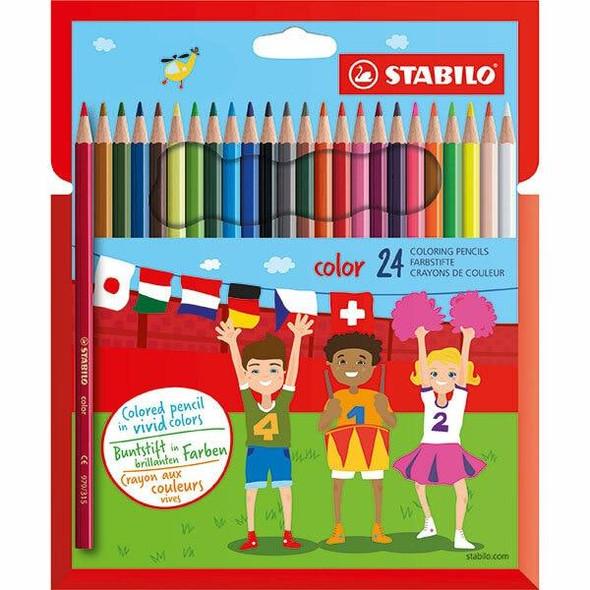 STABILO Colour Coloured Pencils Wallet24 X CARTON of 6 49734