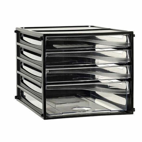 Esselte Desktop Filing Drawers A4 4d Black 49774