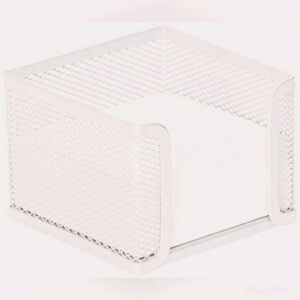 Esselte Mesh Cube Hold White X CARTON of 12 49856