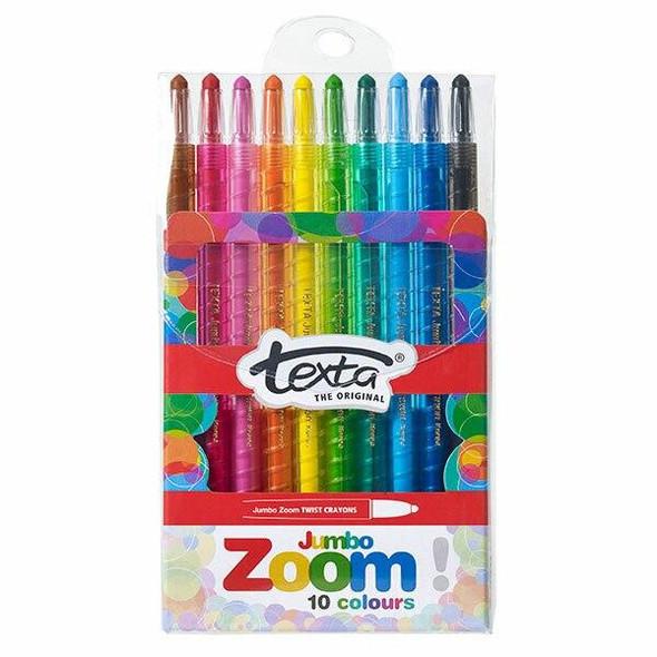 TEXTA Zoom Jumbo Crayon Pack10 49876