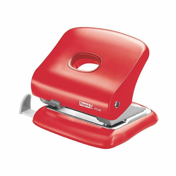 Rapid Punch 2 Hole 30 Sheet Fc30 Red 5000360