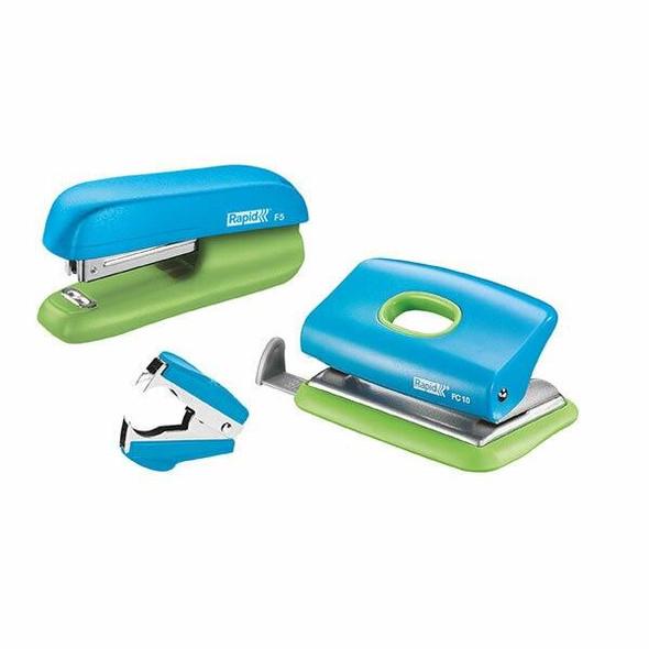 Rapid Stapler Mini F5 Blue/Green V/Pack 5000370