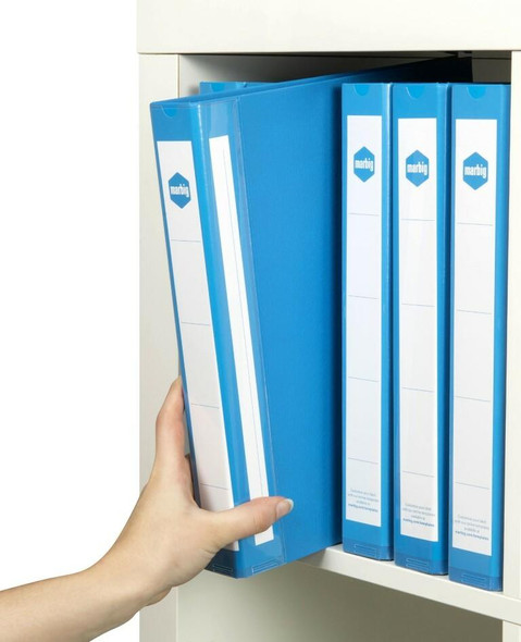 Marbig Ring Binder Deluxe A4 25mm 4d Pe Blue X CARTON of 20 5004001