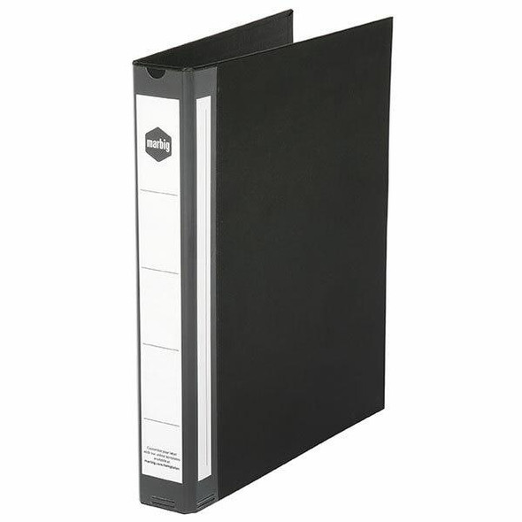 Marbig Ring Binder Deluxe A4 25mm 4d Pe Black X CARTON of 20 5004002