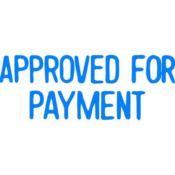 Xstamper Cx-Bn 1025 Approved For Payment Blue 5010250