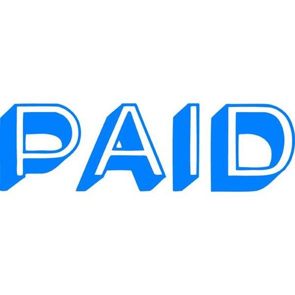 Xstamper Cx-Bn 1357 Paid Blue 5013570
