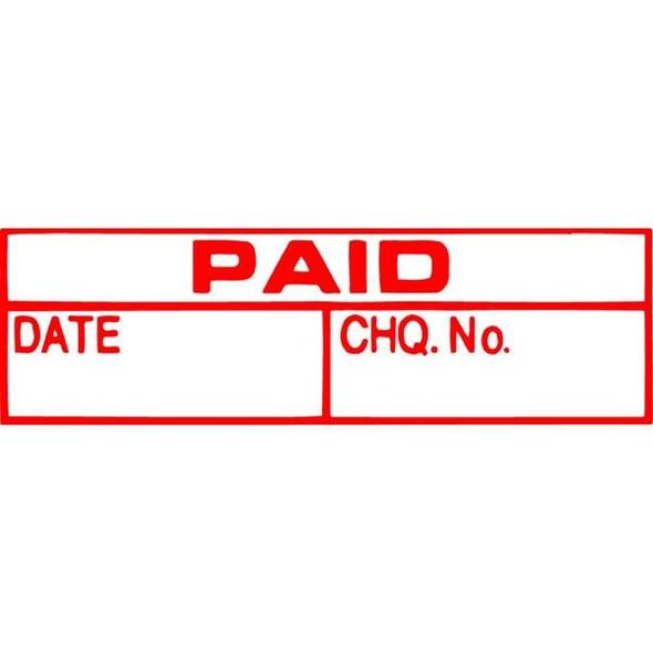 Xstamper Cx-Bn 1533 Paid/Date/Cheque No Red 5015330