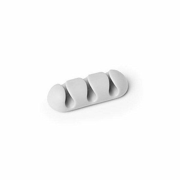 DURABLE Cavoline Self-Adhesive Cable Clips 3, Grey X CARTON of 10 503910