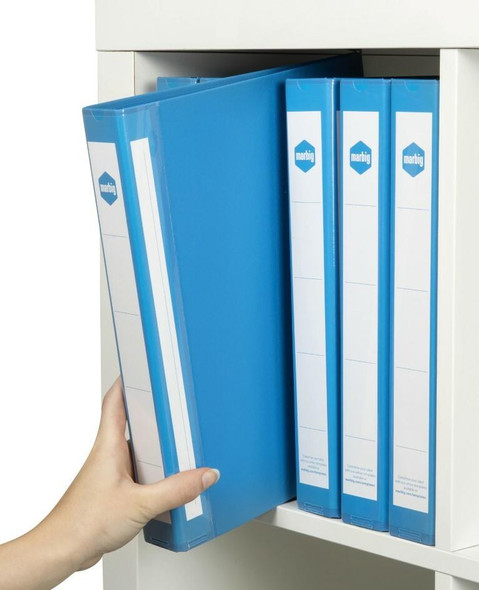 Marbig Ring Binder Deluxe A4 25mm 2d Pe Blue X CARTON of 20 5072001