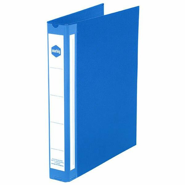 Marbig Ring Binder Deluxe A4 25mm 3d Pe Blue X CARTON of 20 5073001