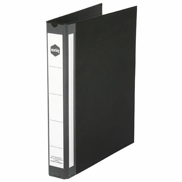 Marbig Ring Binder Deluxe A4 25mm 3d Pe Black X CARTON of 20 5073002