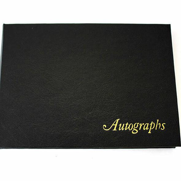 CUMBERLAND Autograph Book Leathergrain Black 510108
