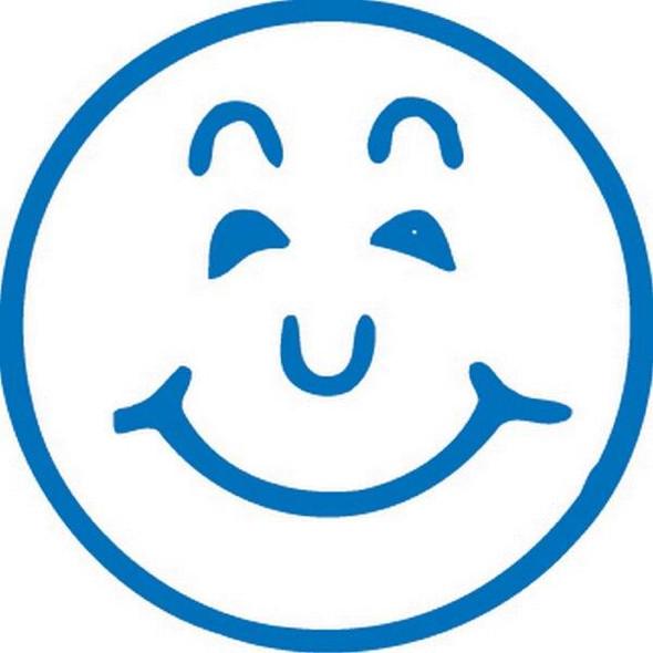 Xstamper Ce-16 11303 Smiley Face Blue 5113033