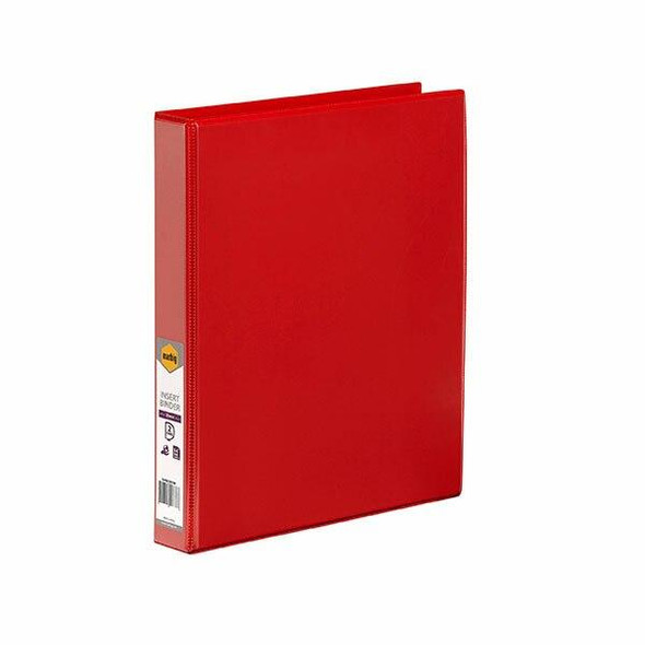 Marbig Clearview Insert Binder A4 25mm 2d Red X CARTON of 20 5402003B