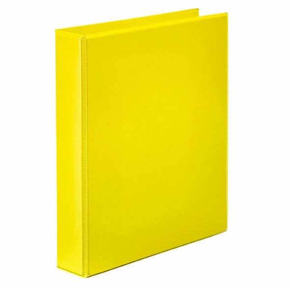 Marbig Clearview Insert Binder A4 25mm 2d Yellow X CARTON of 20 5402005