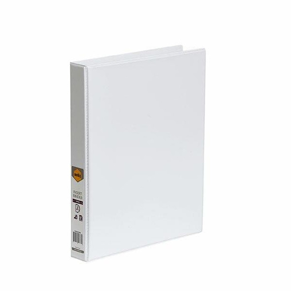 Marbig Clearview Insert Binder A4 25mm 2d White X CARTON of 20 5402008B
