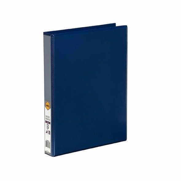 Marbig Clearview Insert Binder A4 25mm 3d Blue X CARTON of 20 5403001B