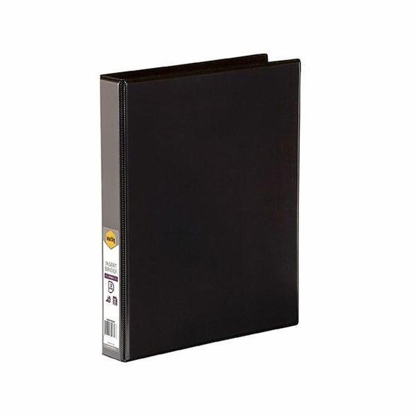 Marbig Clearview Insert Binder A4 25mm 3d Black X CARTON of 20 5403002B