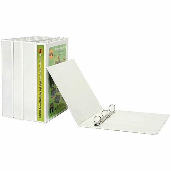 Marbig Clearview Insert Binder A4 25mm 3d White X CARTON of 20 5403008
