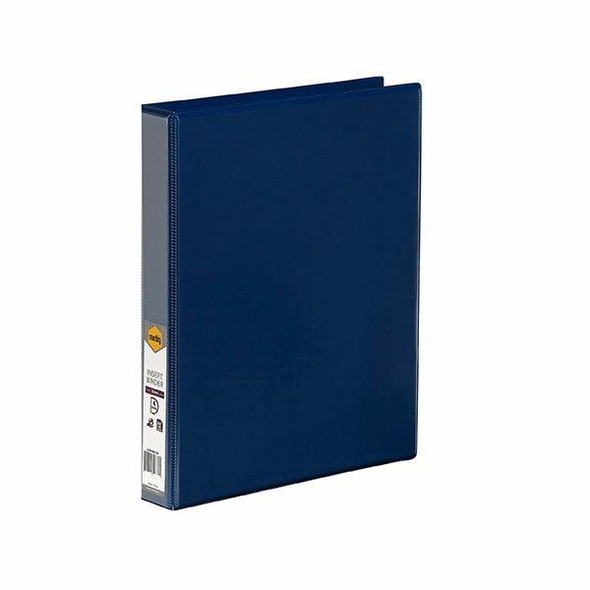 Marbig Clearview Insert Binder A4 25mm 4d Blue X CARTON of 20 5404001B