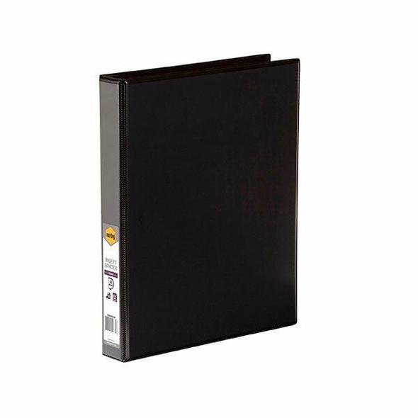 Marbig Clearview Insert Binder A4 25mm 4d Black X CARTON of 20 5404002B