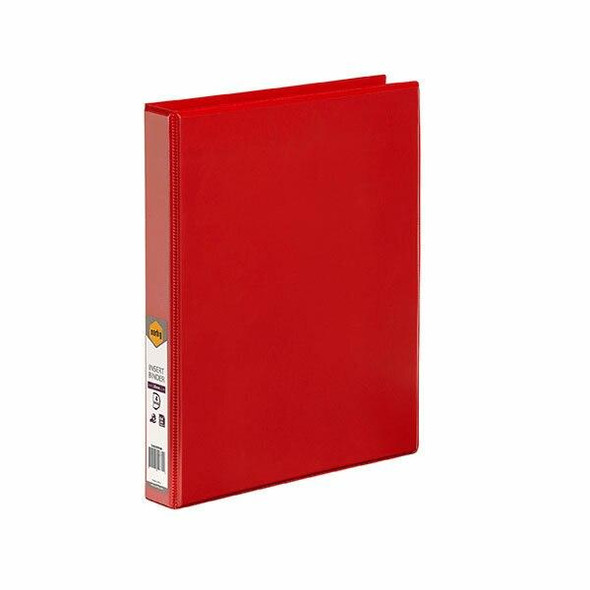 Marbig Clearview Insert Binder A4 25mm 4d Red X CARTON of 20 5404003B